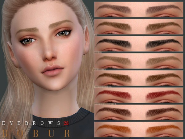 The Sims Resource: Eyebrows 28 by Bobur