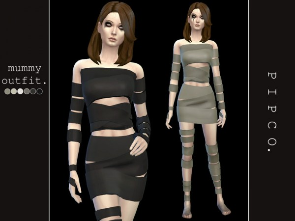 The Sims Resource: Mummy outfit by Pipco