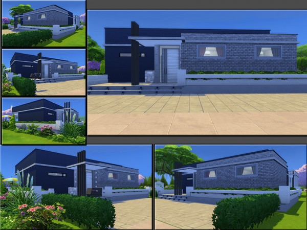 The Sims Resource: Blue Line House by matomibotaki