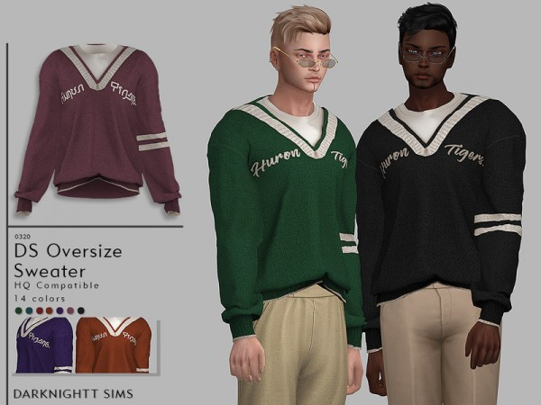 The Sims Resource: Oversize Sweater by DarkNighTt