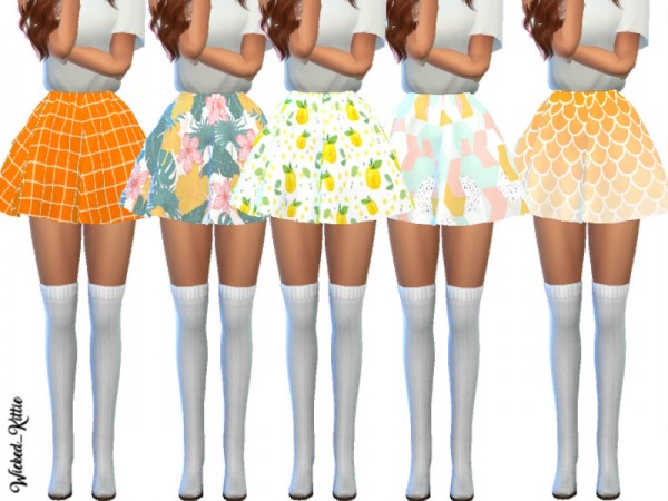 The Sims Resource: Melanie Skater Skirts by Wicked Kittie