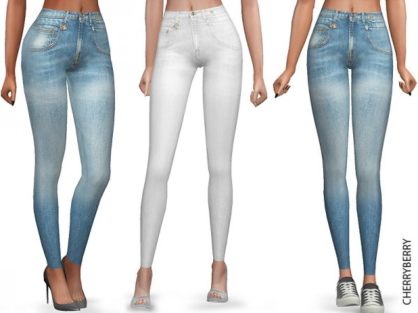 The Sims Resource: Light Skinny Jeans by CherryBerrySim