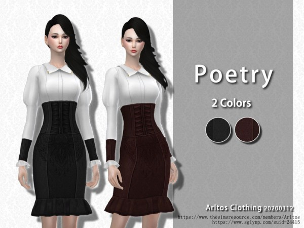 The Sims Resource: Poetry Skirt by Arltos