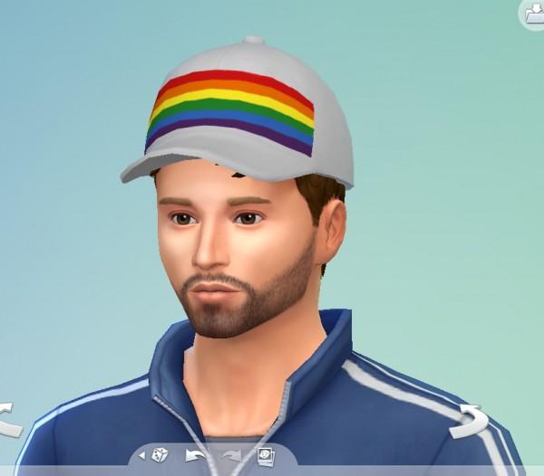Mod The Sims: Rainbow Pride Hat by SimmerKrivna