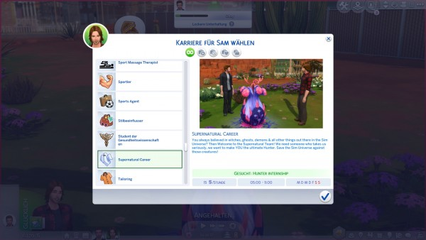 Mod The Sims: Supernatural Career by SweetiePie