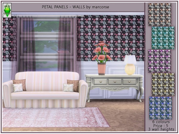 The Sims Resource: Petal Panels   Walls by marcorse