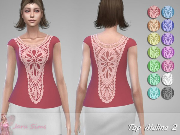 The Sims Resource: Top Melina 2 by Jaru Sims