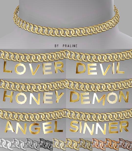 Praline Sims: Heaven and Hell Chain Choker Set
