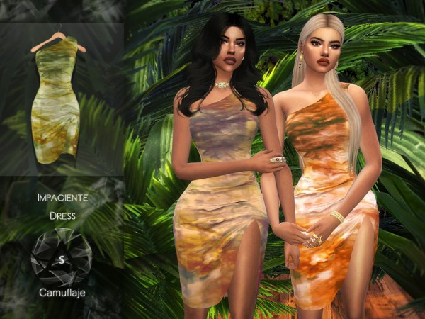The Sims Resource: Impaciente Dress by Camuflaje