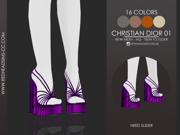 Red Head Sims: Christian Shoes 01