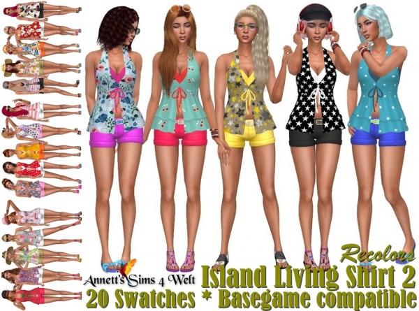 Annett`s Sims 4 Welt: Island Living Shirt   Recolors