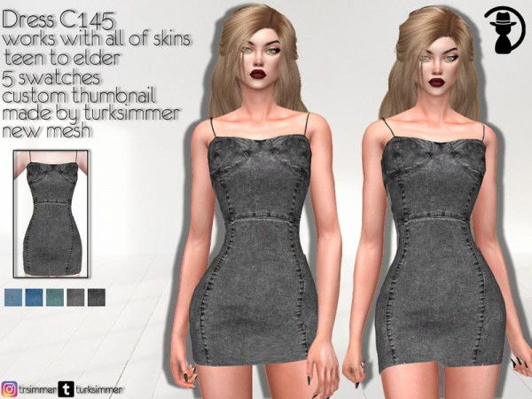The Sims Resource: Dress C145 by turksimmer