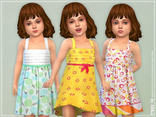 The Sims Resource: Toddler Dresses Collection P126 by lillka