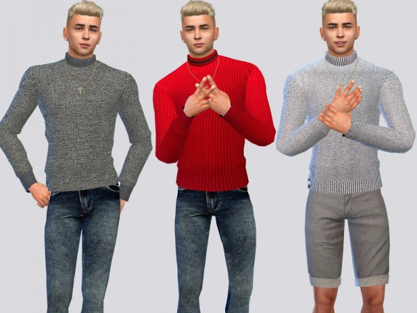 The Sims Resource: Chunky Sweaters by McLayneSims