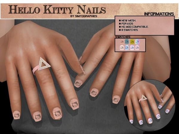 Simtographies: Hello Kitty Nails