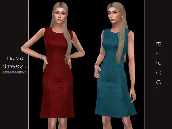 The Sims Resource: Maya dress by Pipco