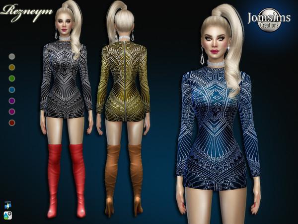 The Sims Resource: Rezneym dress by jomsims