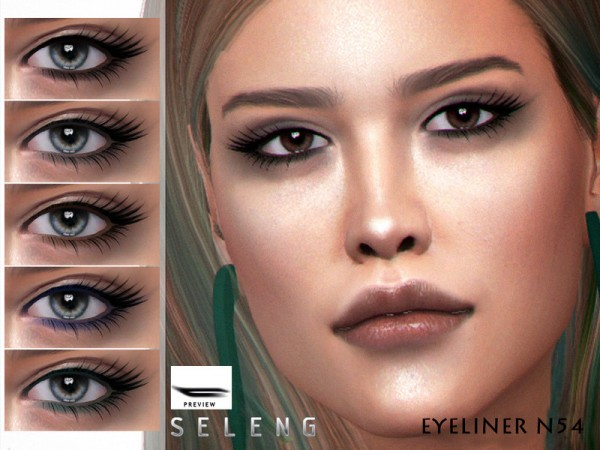 The Sims Resource: Eyeliner N54 by Seleng