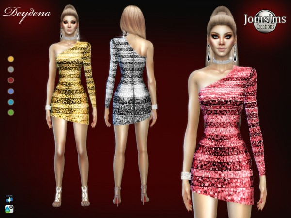 The Sims Resource: Deydena dress by jomsims