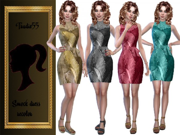 The Sims Resource: Smock dress recolor by TrudieOpp