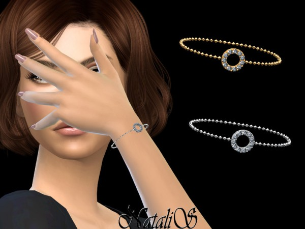 The Sims Resource: Open round halo bracelet by  NataliS