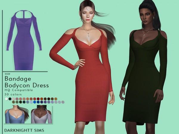 The Sims Resource: Bandage Bodycon Dress by DarkNighTt