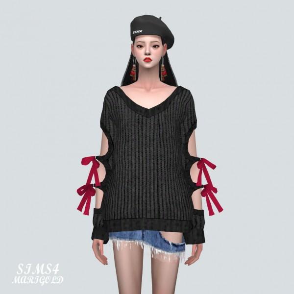 SIMS4 Marigold: Ribbon Hole Sweater