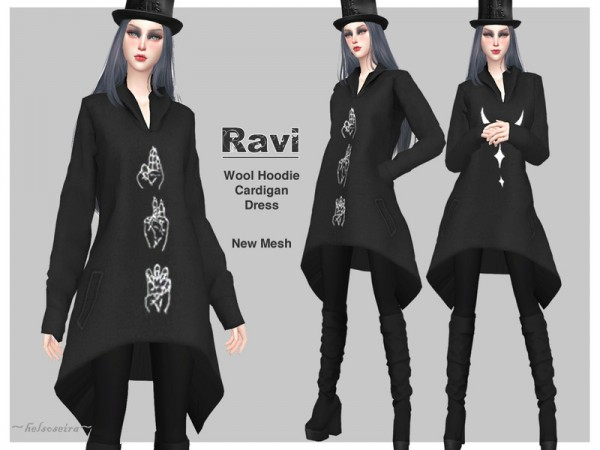The Sims Resource: RAVI   Gothic Cardigan by Helsoseira