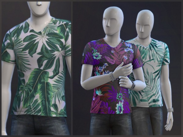 The Sims Resource: Evergreen t shirts by sugar owl
