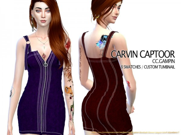 The Sims Resource: Gampin Dress by carvin captoor