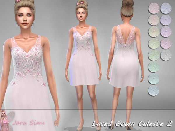 The Sims Resource: Laced Gown Celeste 2 by Jaru Sims