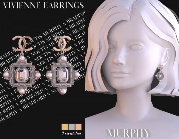 Murphy: Vivienne Earrings by Silence Bradford