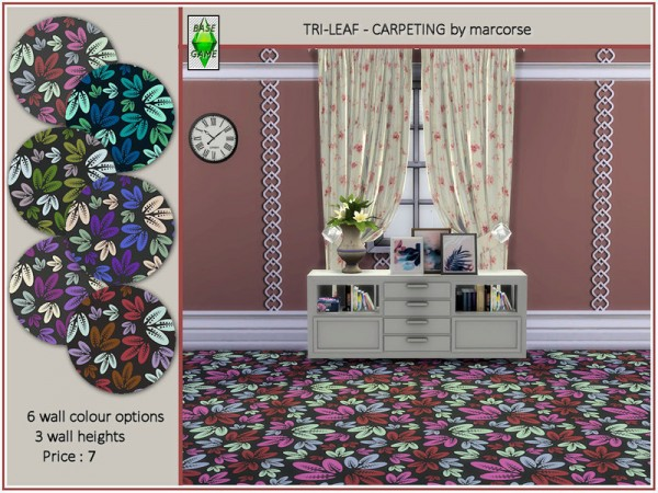 The Sims Resource: Tri Leaf   Carpeting by marcorse