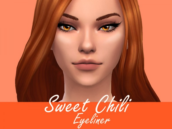 The Sims Resource: Sweet Chili Eyeliner by Sagittariah