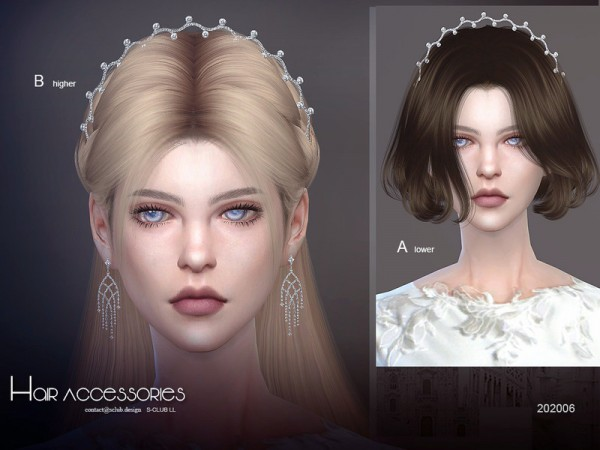 The Sims Resource: Hair Accessories 202006 by S Club