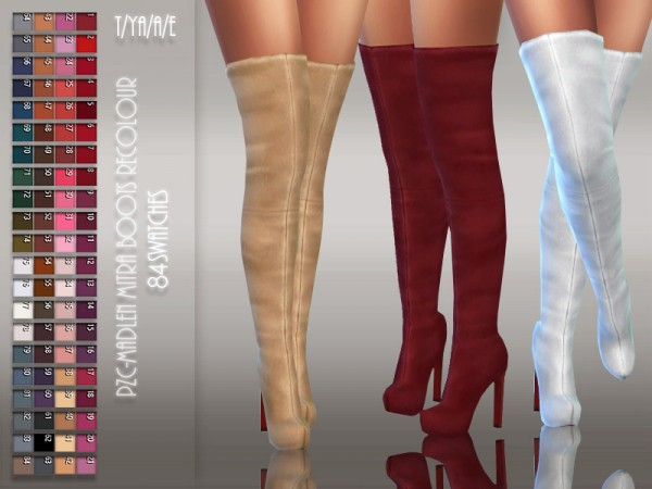 The Sims Resource: Madlen`s Mitra Boots Recolored by Pinkzombiecupcakes