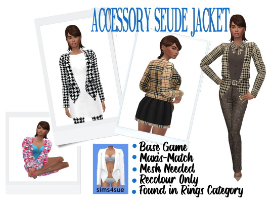 Sims 4 Sue: Musical Simmers Accessories Jacket