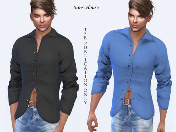 The Sims Resource: Mens shirt half open by Sims House