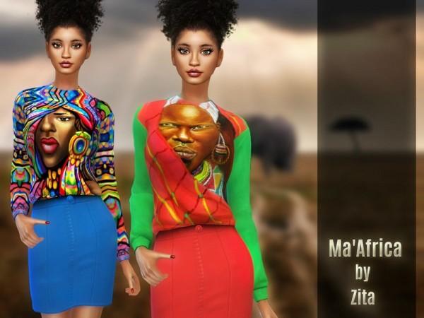 The Sims Resource: MaAfrica Dress by ZitaRossouw