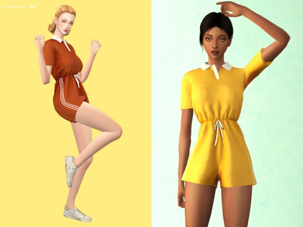 The Sims Resource: Sports Jumpsuits by ChloeMMM