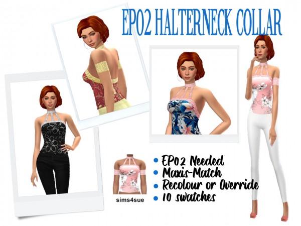 Sims 4 Sue: Halterneck Collar Top