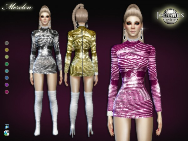 The Sims Resource: Merelen dress by jomsims