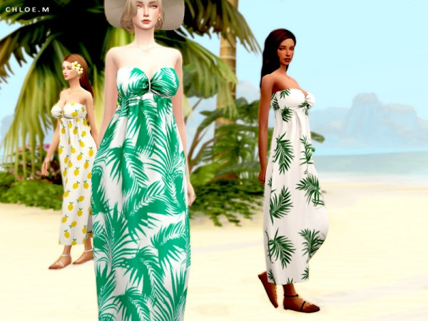 The Sims Resource: Resort Style Dress by ChloeM