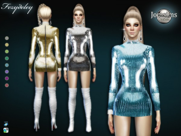 The Sims Resource: Fezydeley dress by jomsims