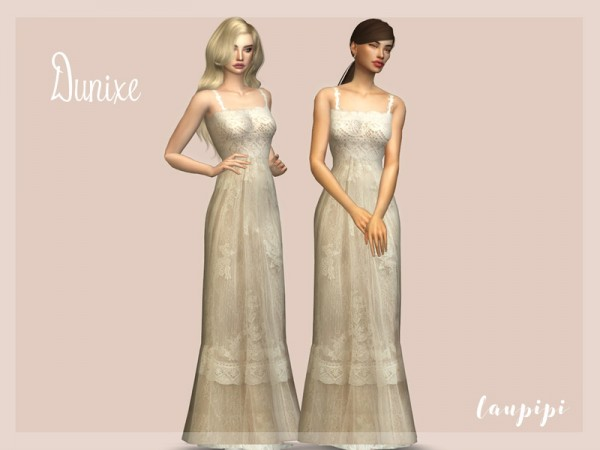 The Sims Resource: Dunixe Dress by Laupipi