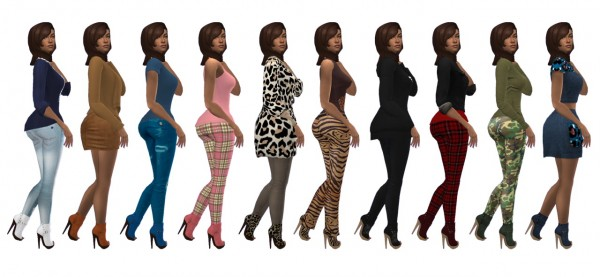 Sims 4 Sue: Dallasgirls peeptoe booties