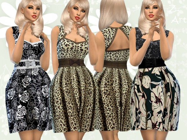The Sims Resource: RetroZ. Dress 08 by Zuckerschnute20