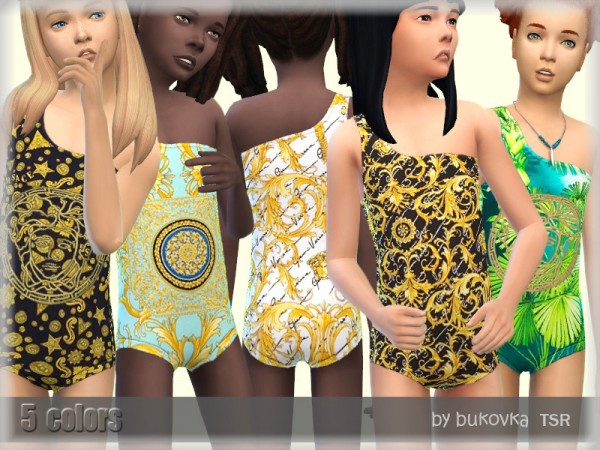 The Sims Resource: Swimsuit Child by bukovka