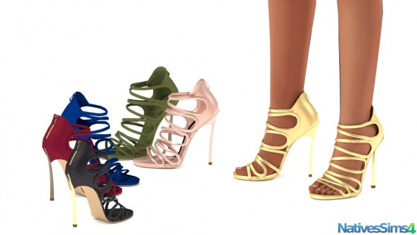 Natives Sims: Cut out Caged Sandals