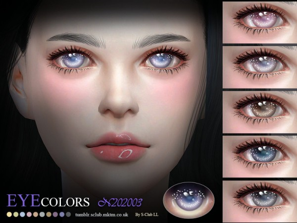 The Sims Resource: Eyecolors LL 202003 by S Club